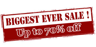 Biggest ever sale up to seventy percent off Royalty Free Stock Photos