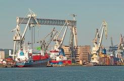 Biggest gantry in shipyard in Gdynia Royalty Free Stock Photo