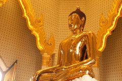 Biggest golden buddha statue in Trimit temple Stock Photo