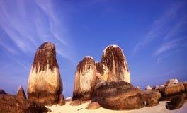 The biggest granite stone. In Belitung island Indonesia stock images