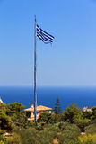 Biggest greek flag Stock Photography