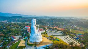 Chinese temple wat Hyua Pla Kang in Chiang Rai north of Thailand. The biggest Guanyin statue in Chinese temple wat Hyua Pla Kang in Chiang Rai north of Thailand Royalty Free Stock Images