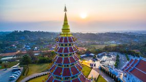 Chinese temple wat Hyua Pla Kang in Chiang Rai north of Thailand. The biggest Guanyin statue in Chinese temple wat Hyua Pla Kang in Chiang Rai north of Thailand Stock Photo