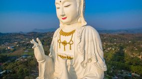 Chinese temple wat Hyua Pla Kang in Chiang Rai north of Thailand. Royalty Free Stock Photography