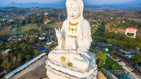 Chinese temple wat Hyua Pla Kang in Chiang Rai north of Thailand. The biggest Guanyin statue in Chinese temple wat Hyua Pla Kang in Chiang Rai north of Thailand Stock Image