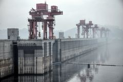 The Biggest Hydroelectric Power Station in the World - Three Gorges Dam on Yangtze river in China royalty free stock image