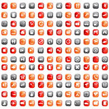 Biggest icon collection royalty free stock photos