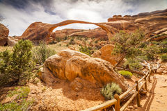 The biggest Landscape Arch in Arches National Park, Utah Royalty Free Stock Photo