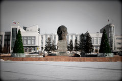 The Biggest Lenin's Head Royalty Free Stock Photo