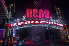 Biggest Little City in the World sign stock images