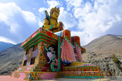 The Biggest Maitreya Buddha statue was build in 2006 at Diskit M Stock Image