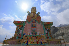The Biggest Maitreya Buddha statue was build in 2006 at Diskit M Royalty Free Stock Photos