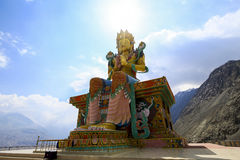 The Biggest Maitreya Buddha statue was build in 2006 at Diskit M Royalty Free Stock Photo