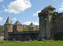 Biggest medieval french fortress. Fougeres Royalty Free Stock Photography