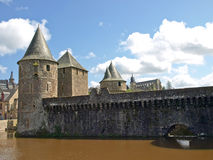 Biggest medieval french fortress. Fougeres Stock Photos
