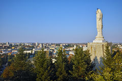 The biggest Monument of Virgin Mary in the world, City of Haskovo Royalty Free Stock Image