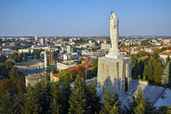 The biggest Monument of Virgin Mary in the world, City of Haskovo Royalty Free Stock Photography