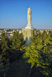 The biggest Monument of Virgin Mary in the world, City of Haskovo Stock Photo