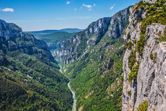 The biggest mountain canyon in Europe Stock Image