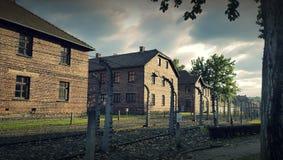 The biggest Nazi Concentration camp - Birkenau Oswiecim Poland. OSWIECIM, POLAND - OCTOBER 4, 2016: Auschwitz II Birkenau, the biggest nazi concentration camp in Stock Photo