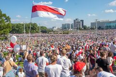Free Biggest Peaceful Protest Demonstrations In Modern History Of Belarus Stock Image - 193648101