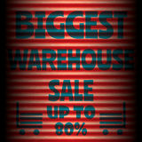 Biggest red warehouse sale red template Stock Photos