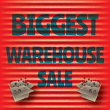 Biggest red warehouse sale red template Royalty Free Stock Images