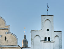 The biggest Russian Orthodox Church in Riga, Latvia Stock Photo
