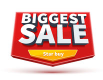 Biggest sale banner with button eps 10  on white Stock Image