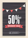 Biggest sale poster, banner or flyer design. Stock Photography