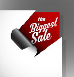 The Biggest Sale text Royalty Free Stock Images