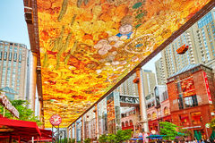 Biggest screen of LSD in the world installed in Beijing. BEIJING, CHINA - MAY 20, 2015: Biggest screen of LSD in the world installed in Beijing, on the Jia No.9 Royalty Free Stock Photo