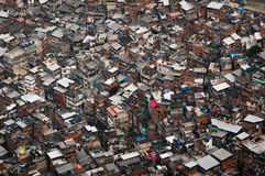 Biggest Slum in South America, Rocinha, Rio de Janeiro, Brazil Stock Photos