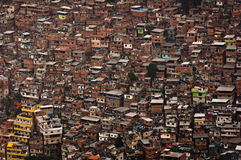 Biggest Slum in South America, Rocinha, Rio de Janeiro, Brazil Stock Photography