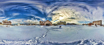 After the snowstorm. After a the biggest snowstorm of the year Royalty Free Stock Photos
