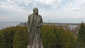The biggest statue of Lenin stock video footage