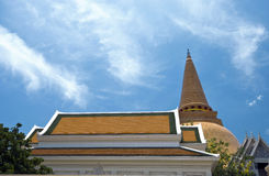 Biggest stupa in Thailand Royalty Free Stock Image