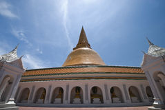 Biggest stupa in Thailand Stock Images
