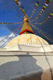 The biggest stupa in the World. Boudhanath, Nepal Stock Image