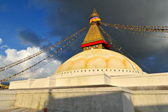 The biggest stupa in the World. Boudhanath, Nepal Stock Photography