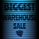 Biggest warehouse sale blue Stock Images