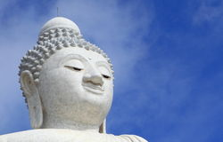 The Biggest white holy Buddha at Phuket, Thailand Stock Image