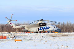 The biggest in the world the Russian transport MI-26T helicopter Stock Photos
