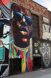 Biggie Smalls graffiti In Brooklyn Royalty Free Stock Images