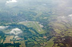 Biggin小山机场,鸟瞰图 库存照片