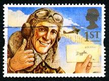 Biggles UK znaczek pocztowy zdjęcia stock