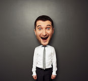 Bighead happy man Royalty Free Stock Photography