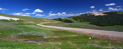 Bighorn国家森林车行道 库存照片
