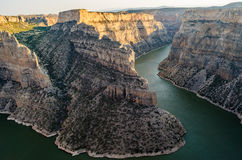 Bighorn Canyon National Recreation Area. Winding River Royalty Free Stock Images