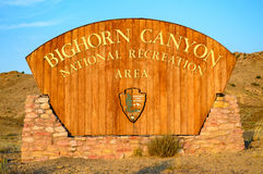 Bighorn Canyon National Recreation Area. Wyoming High Desert Scubland Royalty Free Stock Image